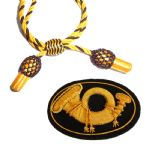 Officers Gold & Black Hat Cord And Sewn Infantry Badge